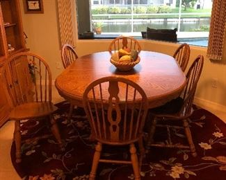 Solid wood kitchen set rug is also for sale.