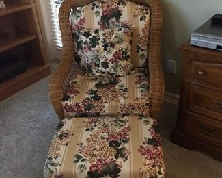 Wicker and wrought iron sofa and chair solid and well made