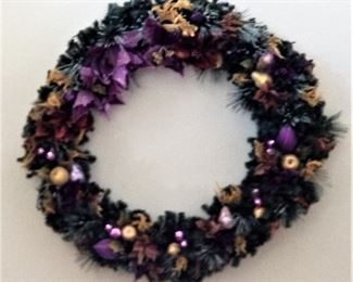 Purple and gold wreath for sale
