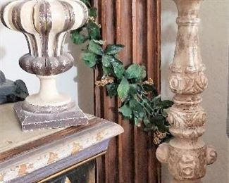 Tall Gothic candle holder or place anything on top that fits your design theme