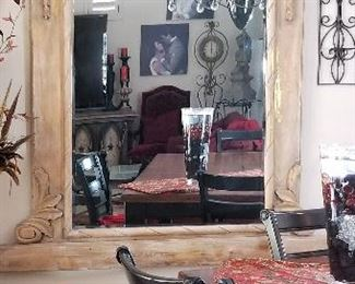 Extra large framed mirror