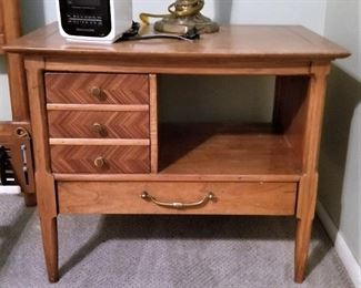 Unusual large bedside table. There are 2.