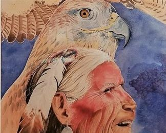 Native American Art with eagles.