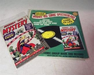 "Golden Records Marvel Age Comic Spectaculars record and comic book, ""Journey into Mystery"" introducing The Mightly Thor"