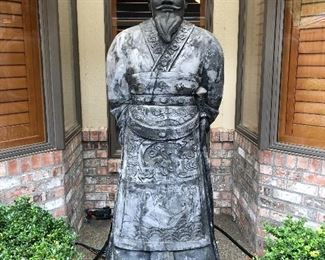 Life size Terracotta Soldier imported from Xi'an, China 12 years ago.  Made of the very same clay used in the actual Terracotta Amry.