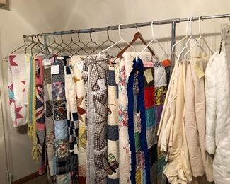 More handmade quilts and drapery, bedspreads