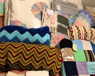 Also many crocheted throws