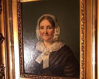 """Dated 1840  Original oil  Approximately 8"""" x 12"""""""