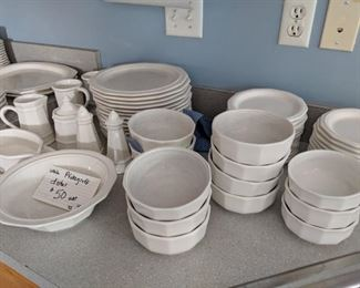 $50  White Pfaltzgraff dishes