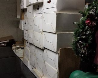 Boxes of Christmas Décor