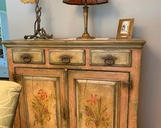Hand painted chest from France