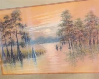 an original painting by noted Louisiana artist Alexander John Drysdale