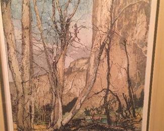 "signed etching by Liugi Kasimir ""El Capitan"""