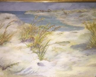 original seascape painting by Mildred Hardy McKnight