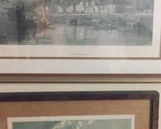 pair of framed 19th century English framed prints