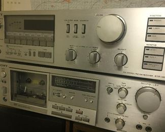 Vintage Sony stereo equipment
