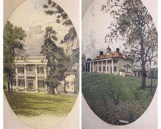 we have several Eisenberger signed prints of The Hermitage, Mt Vernon, and we also have Monticello