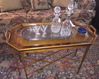 Waterford Lismore decanters and Waterford Lismore Hurricane lamps