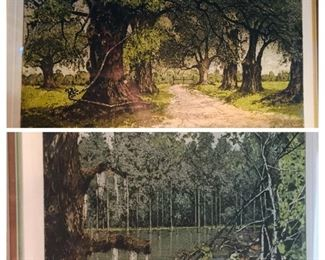 Louisiana etchings signed twice by artist Eisenberger.