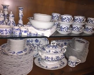 80 plus piece set of Blue Danube china