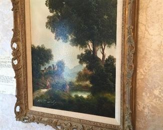 Very Old oil ob canvas With Authentication