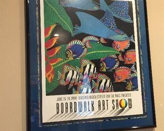 LOYS OF BOARDWALK ART POSTER BEAUTIFULLY FRAMED