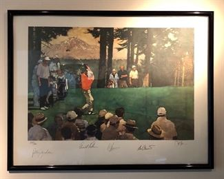 Autographed Golf Picture signed & numbered-Peter Jacobsen, Arnold Palmer & more