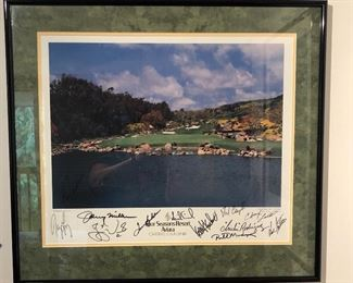 Autographed Golf Picture Four Seasons Resort Aviara