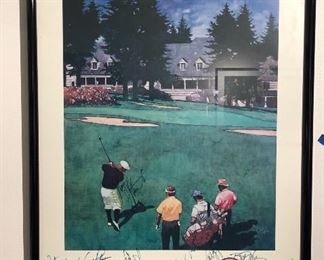 Autographed Golf Picture-1989 The Challenge
