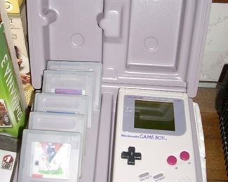 Game Boy with games