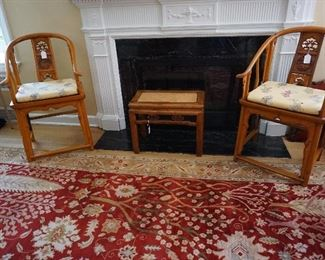 Chinese Elmwood Horsehoeback Chairs