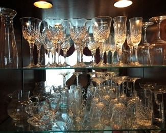 Towle crystal stemware plus other pieces.