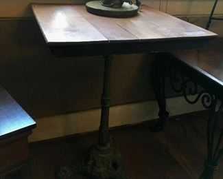 Iron base table