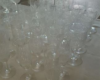 Baccarat, 65 stems and decanters