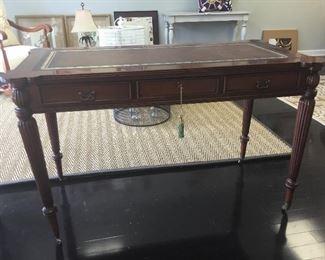 "James River Chelsea House mahogany desk, 50""W x 26""D x 31""T"