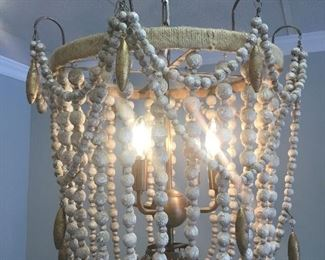 """Bead chandelier, 18"""" x 18"""""""
