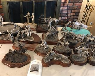 Collection of Chilmark pewter sculptures