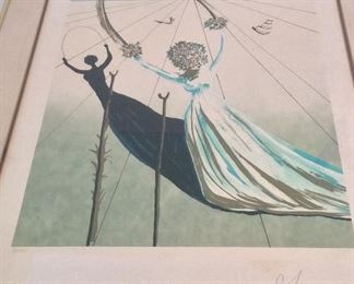 "Salvador Dali, ""Dream Passage"", Signed and Numbered Lithograph, 93/300. 26"" x 34"". With DALART N.V. Blindstamp on Lower Left Corner."