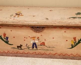 Vintage Painted Toy Chest