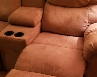 Microfiber Sectional Recliner Example