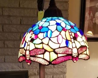 Stained Glass Floor Lamp Dragonflies