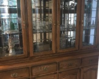 Large dish cupboard - this would be a great piece in a pantry for storage (i.e. semi built-in), that's how these clients use it.