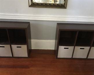 Two storage units
