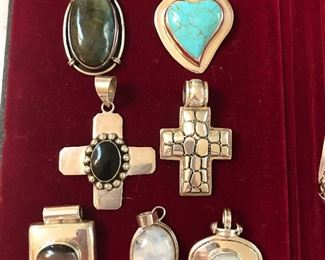 Sterling pendants - we have the sterling loop necklaces so you can pick and choose