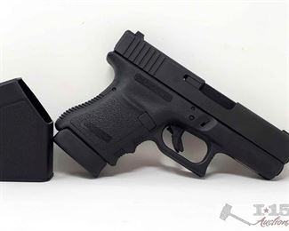 """215:  Glock 30 .45 Cal Semi Auto Pistol with 2 Mags, CA Transfer Available Serial Number: CDX267 Barrel Length: 3.78""""  California Transfer Available. CA transfer can only be done at the Bid Fast and Last office in Hesperia, Ca. NO CA SHIPPING!! $25 out of state shipping for a single handgun purchase with out insurance. Insurance cost varies by purchase amount. Shipping cost for multiple handguns or with rifles wil also vary.  To our California buyers, this handgun falls under Private Party Transfer(PPT). You can purchase multiple PPT handguns at the same without the 1 per 30 day restriction."""