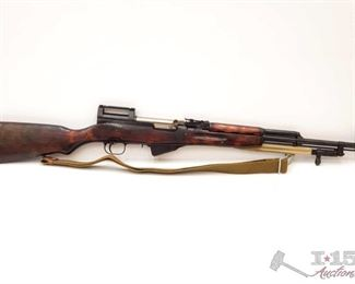 """300:  Russian SKS 7.62x39mm Semi Auto Rifle, CA Transfer Available Serial Number 4391 Barrel Length: 20.375"""" California Transfer Available. Ca and out of state shipping available to your local FFL. Buyer is responsible for checking local laws before bidding."""