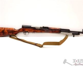 """305:  Russian SKS 7.62x39mm Semi Auto Rifle, CA Transfer Available Serial Number 4391 Barrel Length: 20.375""""  California Transfer Available. Ca and out of state shipping available to your local FFL. Buyer is responsible for checking local laws before bidding."""
