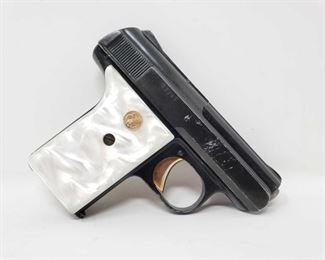 """256: Spesco P-51 Semi-Auto .25 Cal Pistol, NO Ca Transfer Serial Number: 17795 Barrel Length: 2""""  Includes 1 magazine  No CA Transfer. Out of state shipping available to your local FFL. Buyer is responsible for checking local laws before bidding. $25 shipping for a single handgun purchase with out insurance. Insurance cost varies by purchase amount. Shipping cost for multiple handguns or with rifles wil also vary."""
