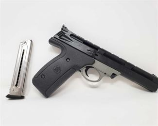 """252: Smith & Wesson 22A-1 Semi-Auto .22LR Pistol Serial Number: UCP5476 Barrel Length: 5.5"""" Includes 2 magazines No CA Transfer. Out of state shipping available to your local FFL. Buyer is responsible for checking local laws before bidding. $25 shipping for a single handgun purchase with out insurance. Insurance cost varies by purchase amount. Shipping cost for multiple handguns or with rifles wil also vary."""