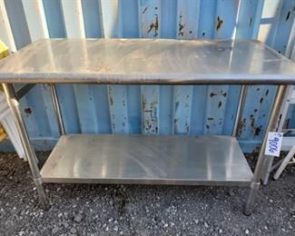 9006: Metal Industrial Kitchen Prep Table Metal Industrial Kitchen Prep Table